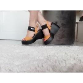 Дамски сандали платформа Н822