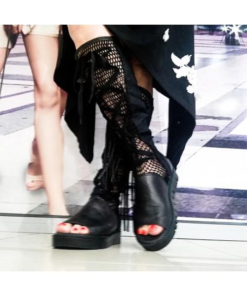 Дамски летни ботуши естествена кожа Б-9 - DICIANI