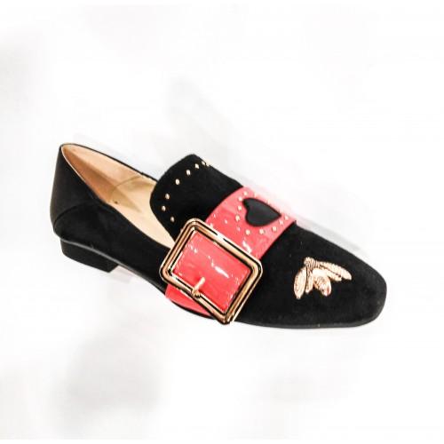 Дамски обувки 5D-32 черен велур - DICIANI