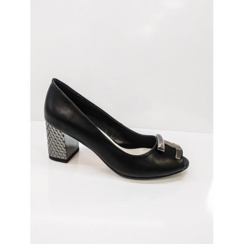 Дамски обувки черна кожа 0-E15 - DICIANI