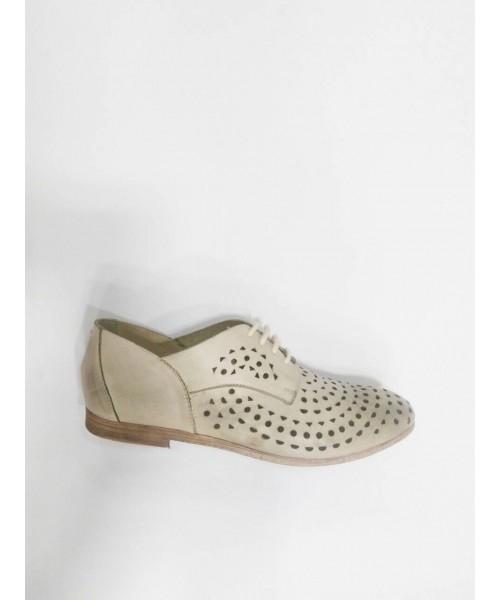 Дамски обувки естествена кожа цвят айс 1403-1