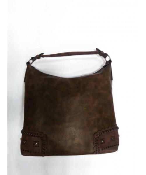 Дамска чанта кафява кожа 9071 - DICIANI