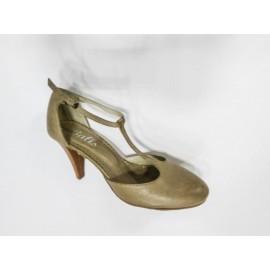 Дамски обувки естествена кожа беж цвят 1205