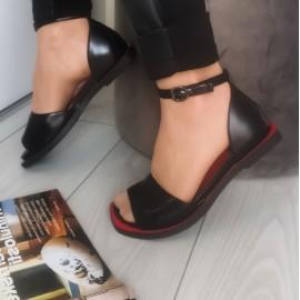 Дамски обувки J3073-black-red