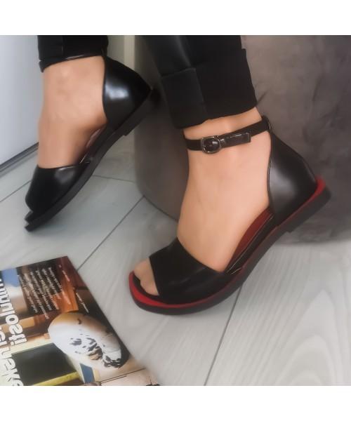 Дамски обувки J3073-black-red - DICIANI