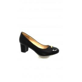 Дамски обувки черна кожа и лак A184