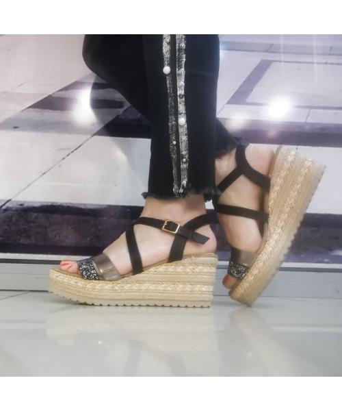 Дамски сандали C2018-9 black - DICIANI