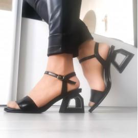Дамски сандали F89-black