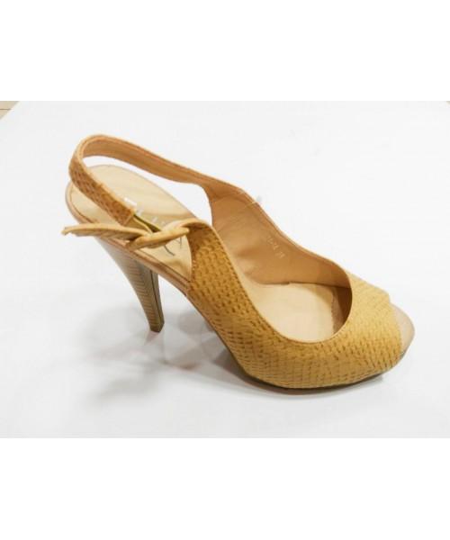 Дамски сандали беж кожа 21-1A