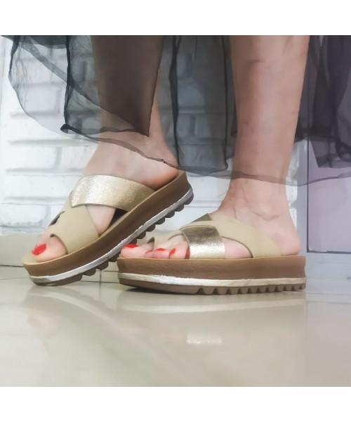 Дамски чехли P602-2 beige - DICIANI
