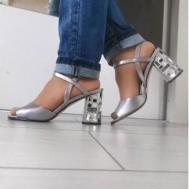 Дамски сандали J2953-silver