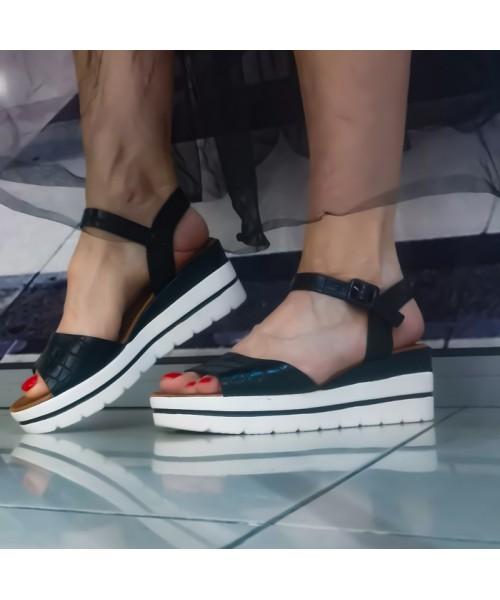Дамски сандали W951-1 black - DICIANI