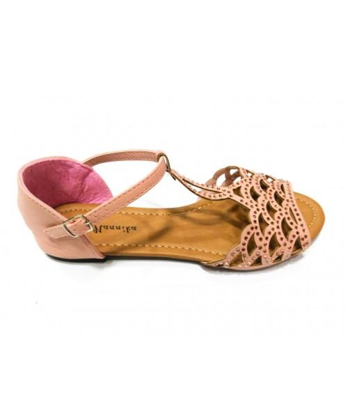 Дамски сандали беж цвят 1309 - DICIANI