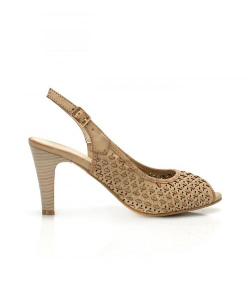 Дамски сандали беж  GGD-A14